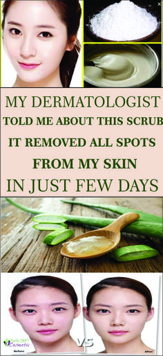 My neighbor told me about this scrub,it removed all spots from my skin in just few days!