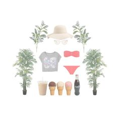 Beach by fullmoonandstars on Polyvore featuring Mode, Melissa Odabash, Oliver Peoples, Swell, Nearly Natural, Pier 1 Imports, Summer, fun, sun and beach