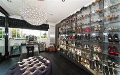 Location   Farnham Royal   Price   £2.6m    Agent   Fine, 01753 886177; fine.co.uk    You might think the most remarkable feature of this master bedroom is its    chandelier, or the en suite, but think again. It has a dressing room with    floor-to-ceiling glass-fronted showcases fitted out solely for shoes. There    are six other bedrooms plus a gym, indoor pool and a bar. Bling it on.