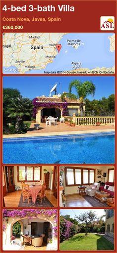 4-bed 3-bath Villa in Costa Nova, Javea, Spain ►€360,000 #PropertyForSaleInSpain
