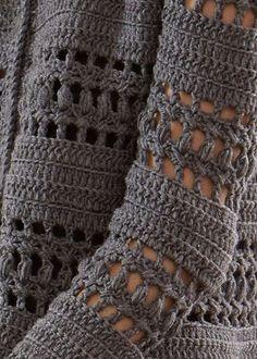 Crochet Cardigan Free Crochet Pattern for a Crocheted Jacket - Free Crochet Pattern for a Crocheted Jacket. Skill Level: Intermediate This chic crochet jacket made with Soft Boho Crochet, Gilet Crochet, Crochet Fashion, Crochet Shawl, Crochet Coat, Crochet Flower, Poncho Knitting Patterns, Crochet Cardigan Pattern, Sewing Patterns Free