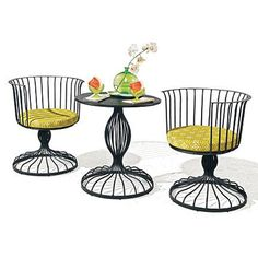VINTAGE PATIO FURNITURE | Vintage+wrought+iron+furniture