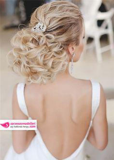 sarışın gelin saçı modelleri (5)
