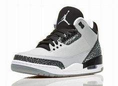 size 40 c4759 7e694 Cheap Air Jordan 3 (III) Retro Wolf Grey Metallic Silver-Black-White shoes  discount sale from air jordans store.