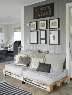 gray painted paneling. i think gray would get kind of dull after a while, no? @Brandon Brotoatmodjo