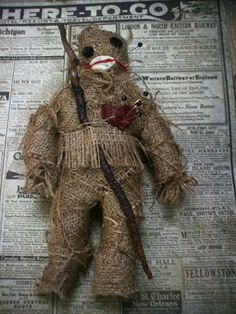 voodoo hoodoo 8 inch handmade doll poppet by jenuineserendipity, $90.00