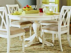 "American Drew 920-701R - Camden Light Round Dining Table w/16"" Leaf (Country White) by American Drew. $845.00. The American Drew 920-701R - Camden Light Round Dining Table with16 Leaf White accents simple forms with quiet traditional references gentle curves and a beautiful time worn white finish that lets the character of the wood show through The brushed nickel finish hardware adds even more casual elegance to Camden This collection will work great in your renovated farm hou..."