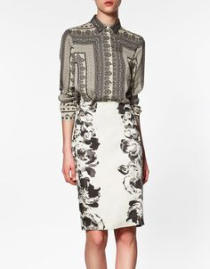Love all the scarf print blouses Zara has but it's already way too hot for long sleeves here.