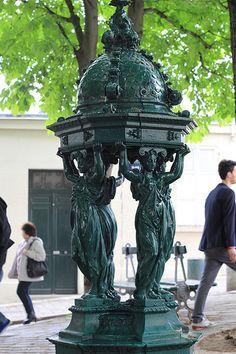 Water fountain - Paris, France