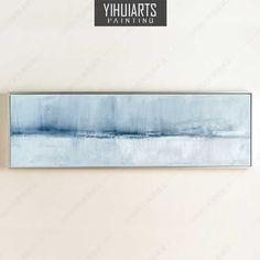 横幅抽象画纯手绘油画沙发背景墙画现代简约客厅装饰画大幅无框画
