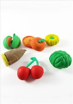 Fruits And Vegetable Erasers