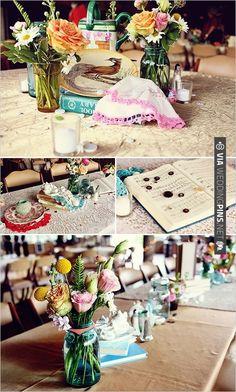 mason jar wedding ideas | VIA #WEDDINGPINS.NET