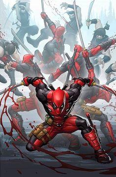 The Comic Ninja — Deadpool by Patrick Brown Marvel Vs, Marvel Dc Comics, Marvel Heroes, Deadpool Wallpaper, Marvel Wallpaper, Man Wallpaper, Marvel Comic Character, Marvel Characters, Marvel Movies