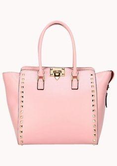 Rockstar Calfskin Medium Leather Bag Pink