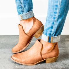 b2dc7a01817 Women Cut Out Ankle Booties Shoes – POPKEEP Low Heels