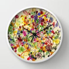 My little garden Wall Clock by Beatriz Watanabe - $30.00