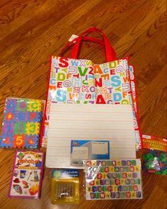 Boy's birthday party ABC'S gift idea