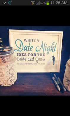 Cute idea for the reception