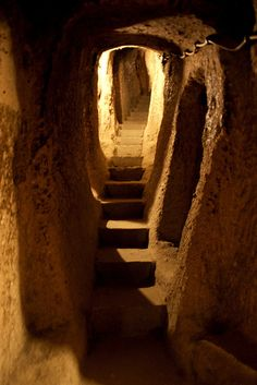 Kaymakli, the underground city  by ika6_, via Flickr|Cappadocia,Turkey.