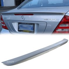 2001 - 2007 Mercedes Benz C-Class W203 AMG Trunk Spoiler ABS 4D Gray #AM