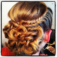 Doing homecoming hair on friends is the best! :)