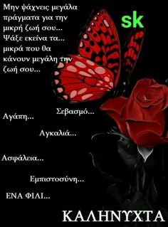 Good Night Messages, Good Night Quotes, Beautiful Pink Roses, Good Night Sweet Dreams, Greek Quotes, Picture Quotes, Good Morning, Thoughts, Feelings