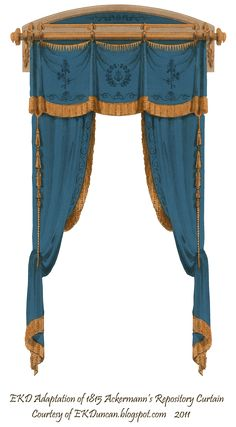 1815 French Curtain - Blue by EveyD.deviantart.com on @DeviantArt
