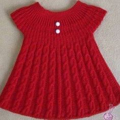 Girls Knitted Dress Knitted Baby Clothes Knit Baby Dress Baby Knitting Patterns Knitting For Kids Crochet For Kids Baby Vest Baby Cardigan Baby Kind Lots of inspiration. Girls Knitted Dress, Knit Baby Dress, Knitted Baby Clothes, Baby Knitting Patterns, Knitting For Kids, Easy Knitting, Diy Crochet Sweater, Crochet Baby, Baby Christening Dress