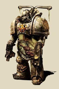 Warhammer 40k - Plague Marine by DanSlider