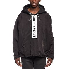 You cut me anorak from the F/W2016-17 Off-White c/o Virgil Abloh collection in black