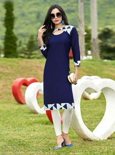 Search results for: 'new arrivals epitome navy blue colored cotton casual kurti Stylish Dress Designs, Dress Neck Designs, Blouse Designs, Kurti Sleeves Design, Kurta Neck Design, Indian Attire, Indian Outfits, Modest Fashion, Fashion Outfits