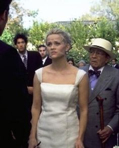 Reese Witherspoon plays displaced southerner-turned-NYC-fashion-designer, so Sophie de Rakoff, costumer for the 2002 rom-com, was tasked with creating a dress that merged both her southern roots and city style. Bonus: It looked great, even when soaking wet on the beach at the end.