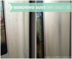 how to remove rust from stainless steel appliances and how to polish the stainless steel to look. Black Bedroom Furniture Sets. Home Design Ideas