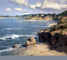 Scott Christensen Paintings | Scott Christensen - Coastal Afternoon Size 27x30 by Scott Christensen ...