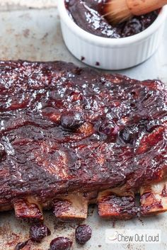 We love the idea of switching things up and serving ribs for Thanksgiving, Christmas or your holiday party. Blueberries in the glaze add a delicious twist! Must pin recipe!