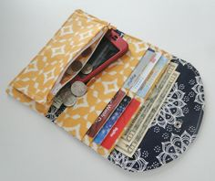 Women's Fabric Wallet, Wallet, Credit Card Holder, Womens Wallet, Small Clutch, Phone Wallet, Phone Clutch