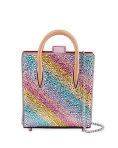 V35CN Christian Louboutin Paloma Nano Rainbow Tote Bag, Multi