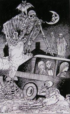 The master of horror, Hans Arnold. Crane, Work In Sweden, Surreal Art, My Eyes, Surrealism, Illustrators, Horror, Fantasy, Artist