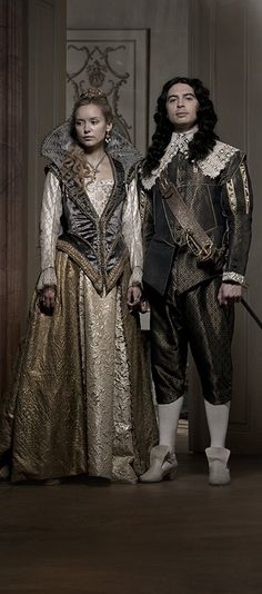The Musketeers - Series II photos via BBCOne: Queen Anne & King Louis