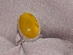 Honey 3 Yellow Agate Ring Did someone drop honey by gejewellery