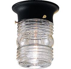 Buy the Progress Lighting Black Direct. Shop for the Progress Lighting Black Utility Lantern Series Single-Light Outdoor Ceiling Fixture with Powder Coated Finish and Jelly Jar Clear Marine Glass Shade and save. Outdoor Ceiling Lights, Outdoor Light Fixtures, Outdoor Lighting, Outdoor Lantern, Exterior Lighting, Porch Lighting, Lighting Ideas, Black Light Bulbs, Light Bulb Bases