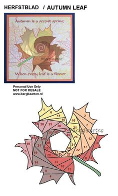 Iris Folding: Autumn Leaf