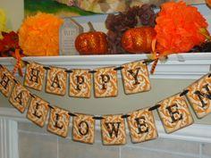 Happy Halloween Banner Halloween Garland Photo by BarbaraARyan