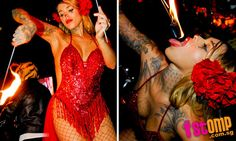 Fire-eaters and acrobatic dancers light up New Asia Bar party