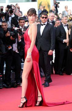 Bella Hadid at Cannes.