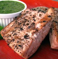 Grilled Opah With Mint and Basil Chutney | Simple Dish | Quick, Easy, & Healthy Recipes for Dinner