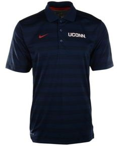 Nike Men's Connecticut Huskies Dri-fit Preseason Polo Shirt - Blue S