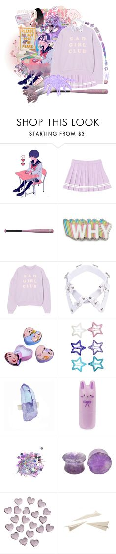 """""""Pretender"""" by bandaidkid ❤ liked on Polyvore featuring Hello Kitty, Big Bud Press, Yuzefi, ASOS, H&M, AstralEYE, Tony Moly, The Gypsy Shrine, Crate and Barrel and Seletti"""
