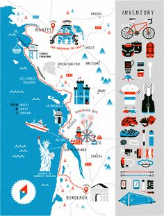 Stuart Hill Illustration - Art of the Map Map Design, Book Design, Process Map, Unique Maps, Hand Drawn Type, Statue, Freelance Illustrator, Illustrators, Screen Printing