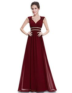 a9104ce16e2c Ever Pretty Women's Elegant V-Neck Long Evening Dress 08697: Amazon.co.uk:  Clothing